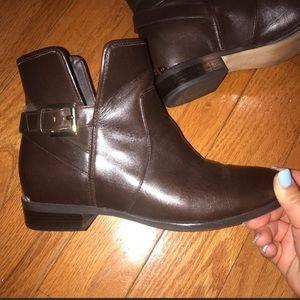 Michael Kors Brown Leather Booties